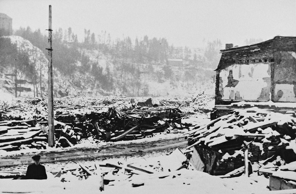 Martyred town of Houffalize