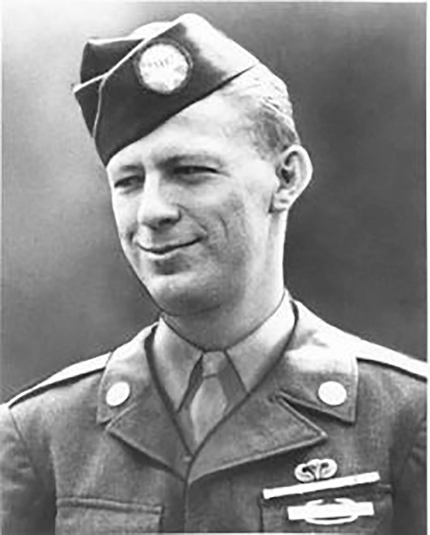 Bud in his paratrooper uniform. © Congressional Medal of Honor Society